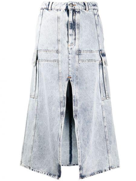 Джинсовая юбка с завышенной талией с вырезом Mm6 Maison Margiela