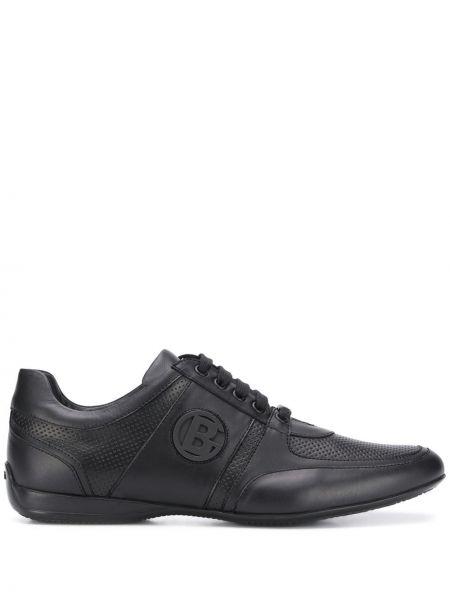 Skórzane sneakersy czarne Baldinini