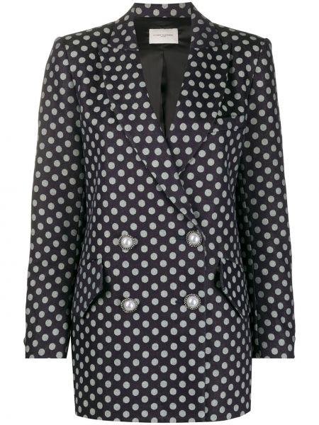 Черный пиджак двубортный с карманами Giuseppe Di Morabito