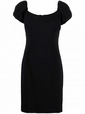 Czarna sukienka mini z jedwabiu Christian Dior