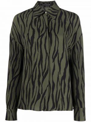 Рубашка с длинным рукавом - зеленая Luisa Cerano