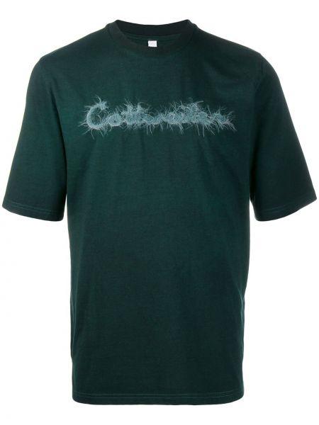 Zielony t-shirt bawełniany z haftem Cottweiler