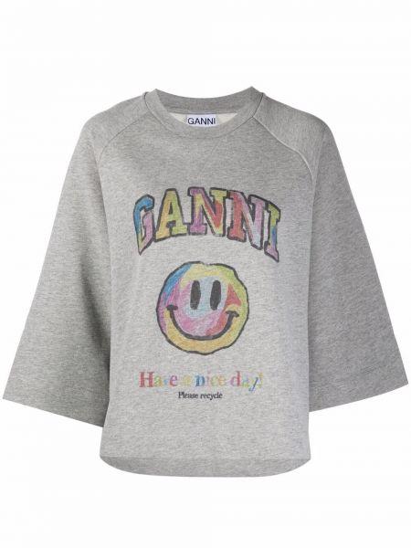 T-shirt z printem Ganni