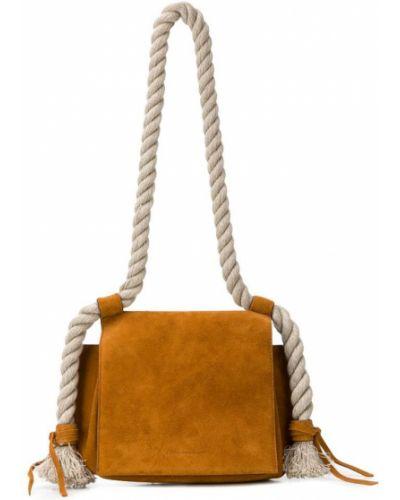 Коричневая сумка на плечо Elena Ghisellini
