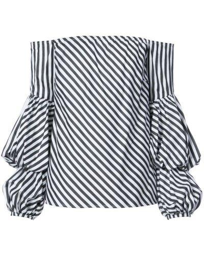 Блузка с длинным рукавом в полоску белая Petersyn