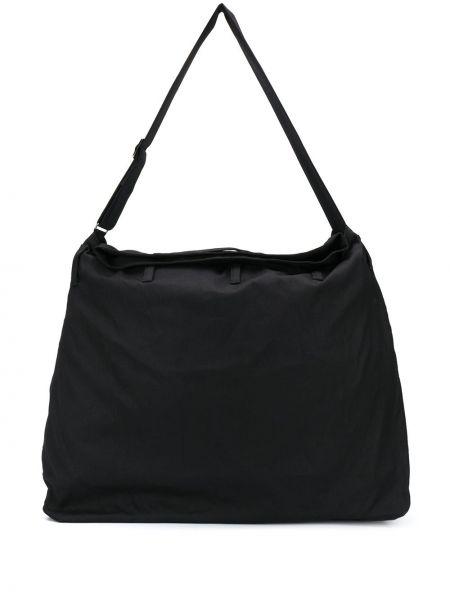 Хлопковая черная сумка на плечо на молнии Discord Yohji Yamamoto