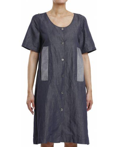 Хлопковое платье - синее Maison Margiela
