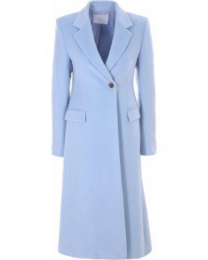 Деловое шерстяное пальто классическое с воротником на пуговицах Hugo Boss