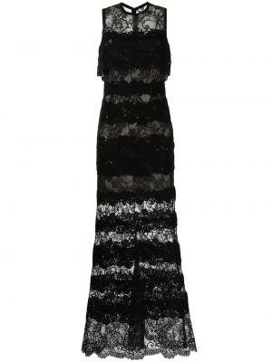 Кружевное платье - черное Elie Saab
