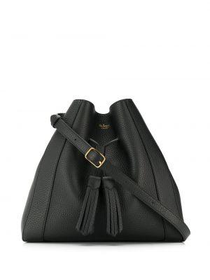 Czarna torba na ramię skórzana Mulberry