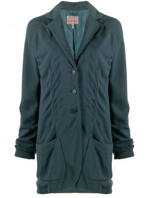 Темно-синяя длинная куртка Romeo Gigli Pre-owned