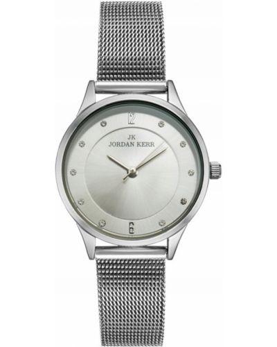 Klasyczny zegarek srebrny z siateczką Jordan Kerr