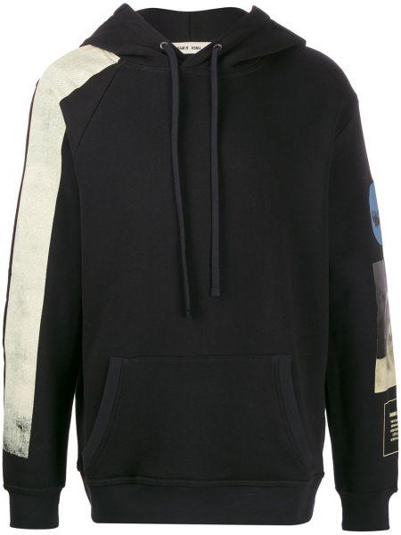Czarna bluza z kapturem z długimi rękawami Damir Doma