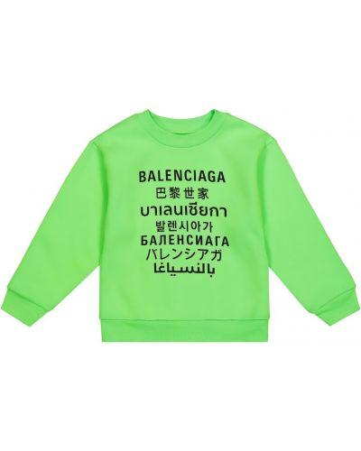 Bawełna zielony bawełna bluza Balenciaga Kids