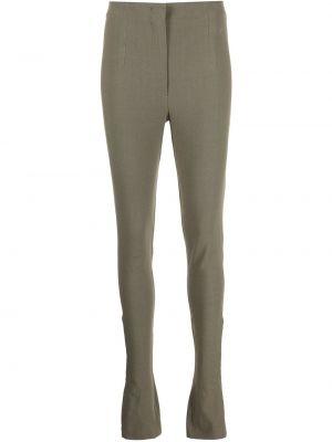 Lniane lniane spodnie - zielone Jacquemus