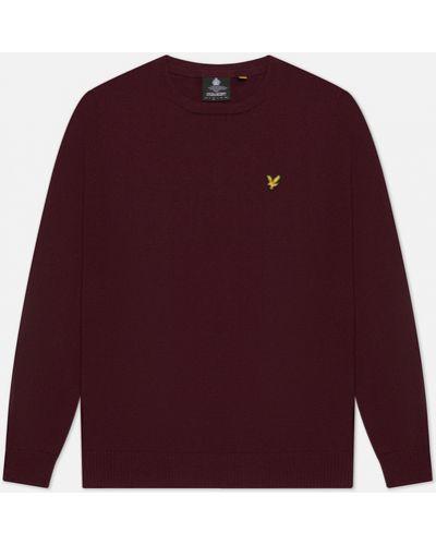 Красный шерстяной свитер с воротником Lyle & Scott
