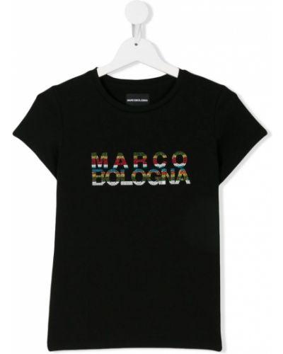 Черная футболка Marco Bologna Kids