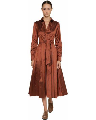 Платье с поясом на пуговицах платье-рубашка Max Mara