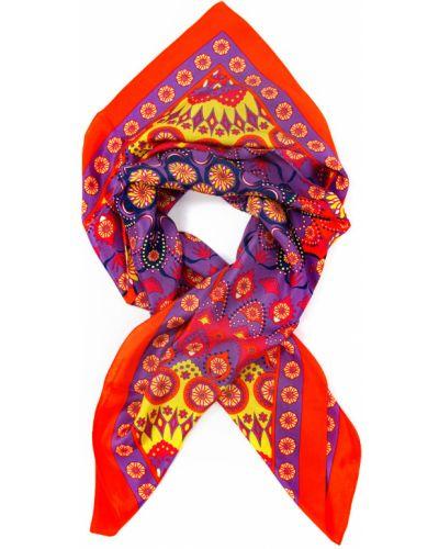 Красный платок из шелка Passigatti