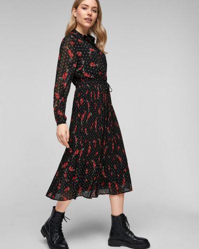 Домашнее шифоновое вязаное платье миди S.oliver