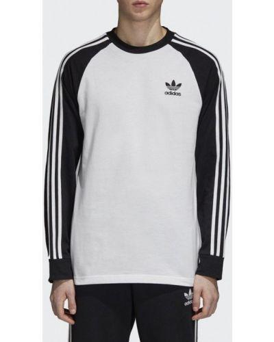 Белый лонгслив Adidas Originals