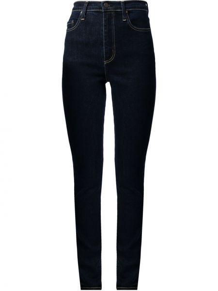 Джинсовые зауженные джинсы с завышенной талией на пуговицах Nobody Denim