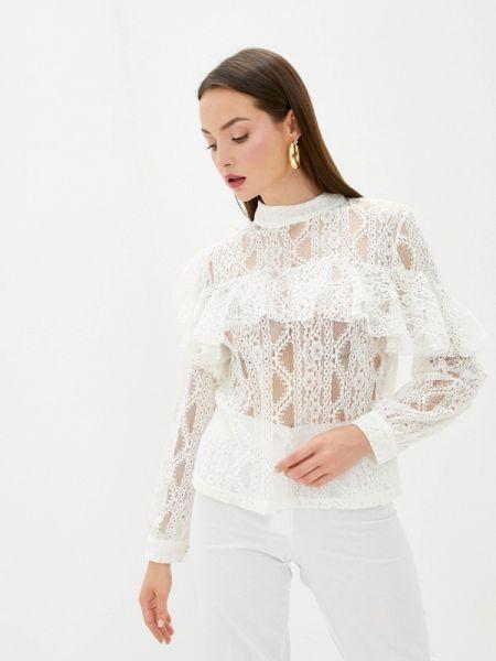 Блузка с рюшами белая Sweewe