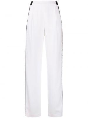 С завышенной талией белые спортивные брюки в полоску Karl Lagerfeld