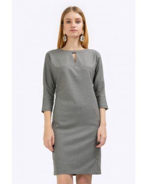Платье серое на молнии Emka