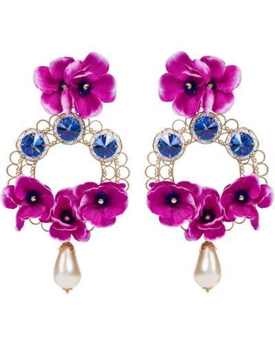 Фиолетовые серьги-гвоздики Dolce & Gabbana