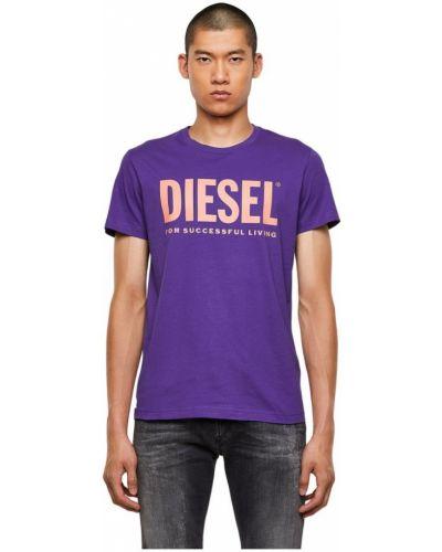 T-shirt - fioletowa Diesel