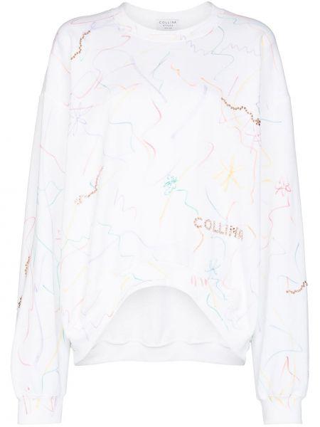 Bawełna biały bawełna bluza Collina Strada