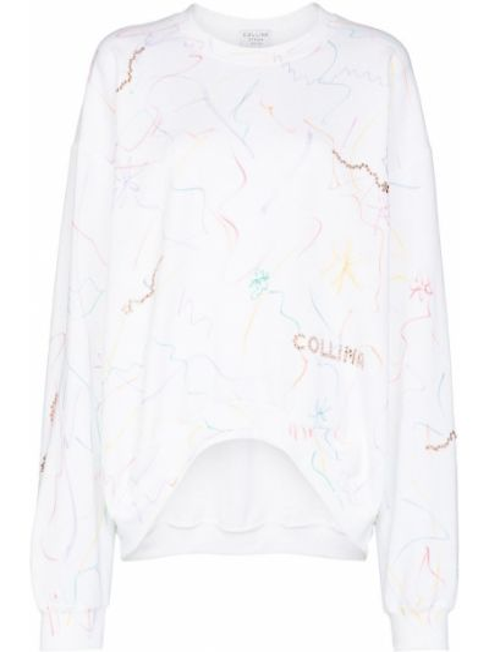 Bluza dresowa - biała Collina Strada