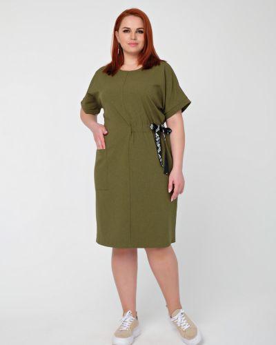 Прямое платье с вырезом с карманами Dora
