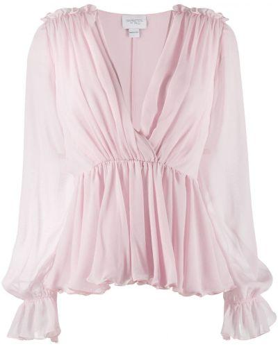 Блузка с длинным рукавом розовая Giambattista Valli