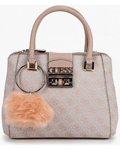 Розовая сумка с ручками Guess