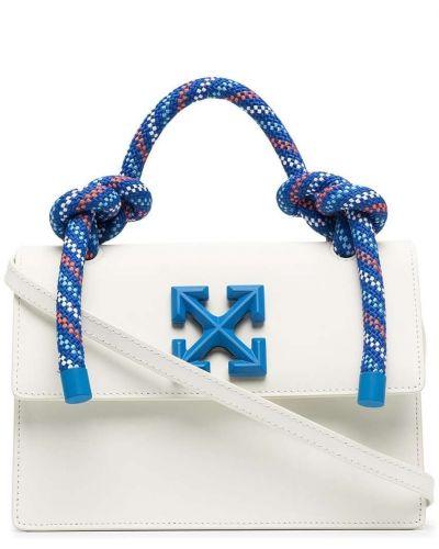 Белая кожаная сумка Off-white