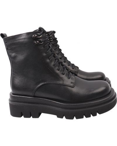 Кожаные ботинки - черные Erisses