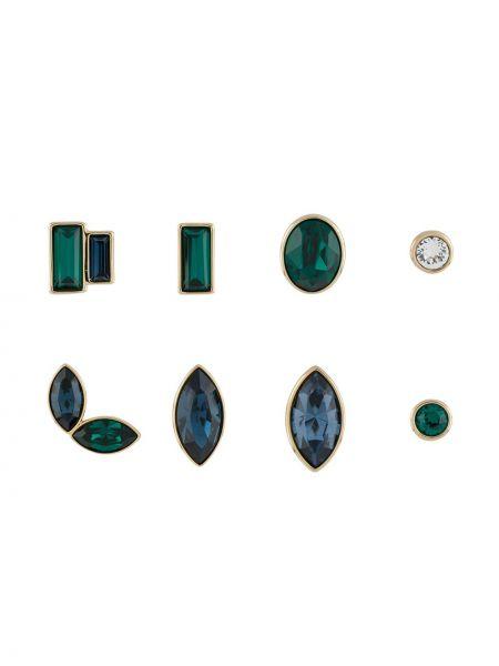 Zielone kolczyki sztyfty Atelier Swarovski
