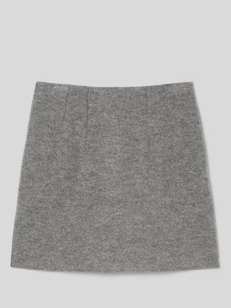 Серая шерстяная юбка мини с подкладкой Marc O'polo