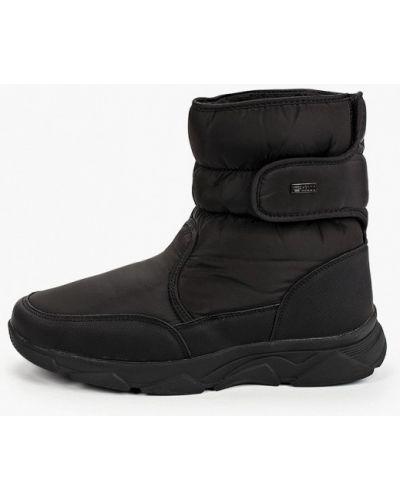 Черные кожаные дутики Keddo