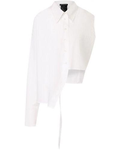 Блузка белая однотонная Ann Demeulemeester