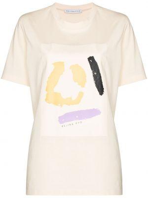 Хлопковая с рукавами белая рубашка Rejina Pyo