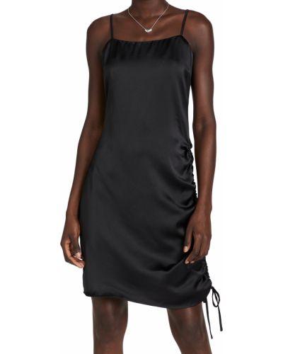 Платье атласное - черное Endless Rose