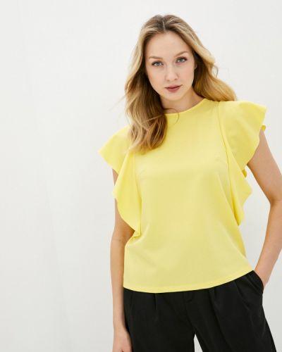 Желтая блузка с короткими рукавами снежная королева