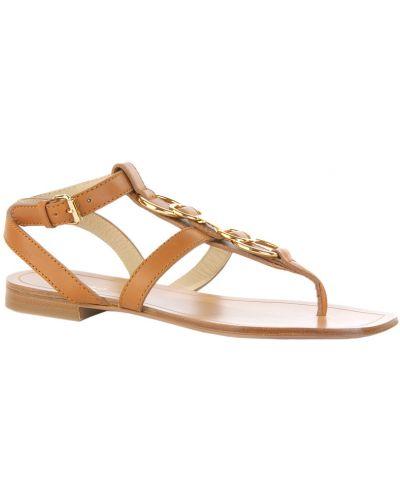 Коричневые кожаные сандалии Etro