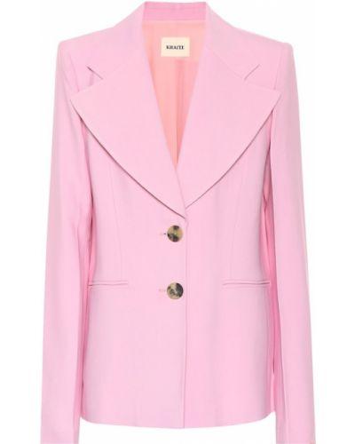 Однобортный розовый классический пиджак с подстежкой Khaite