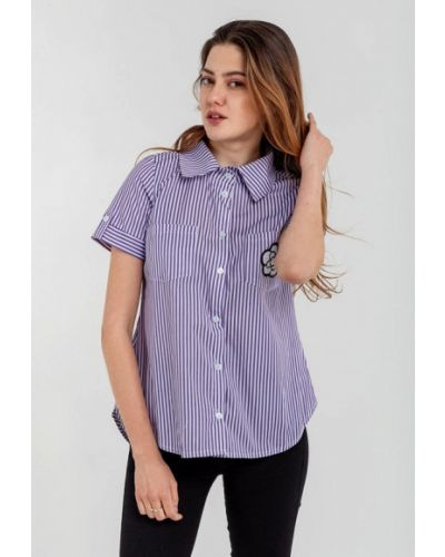 Рубашка с коротким рукавом фиолетовый Modniy Oazis