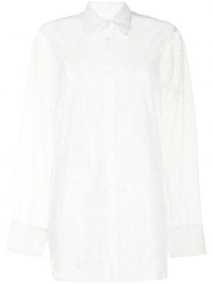 Кружевная белая классическая рубашка с воротником Viktor & Rolf