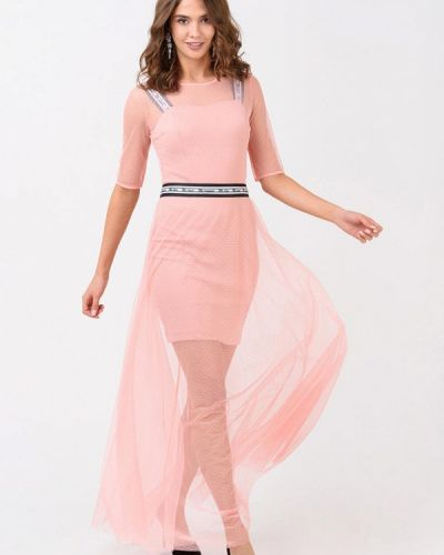 Вечернее платье осеннее розовое Ricamare